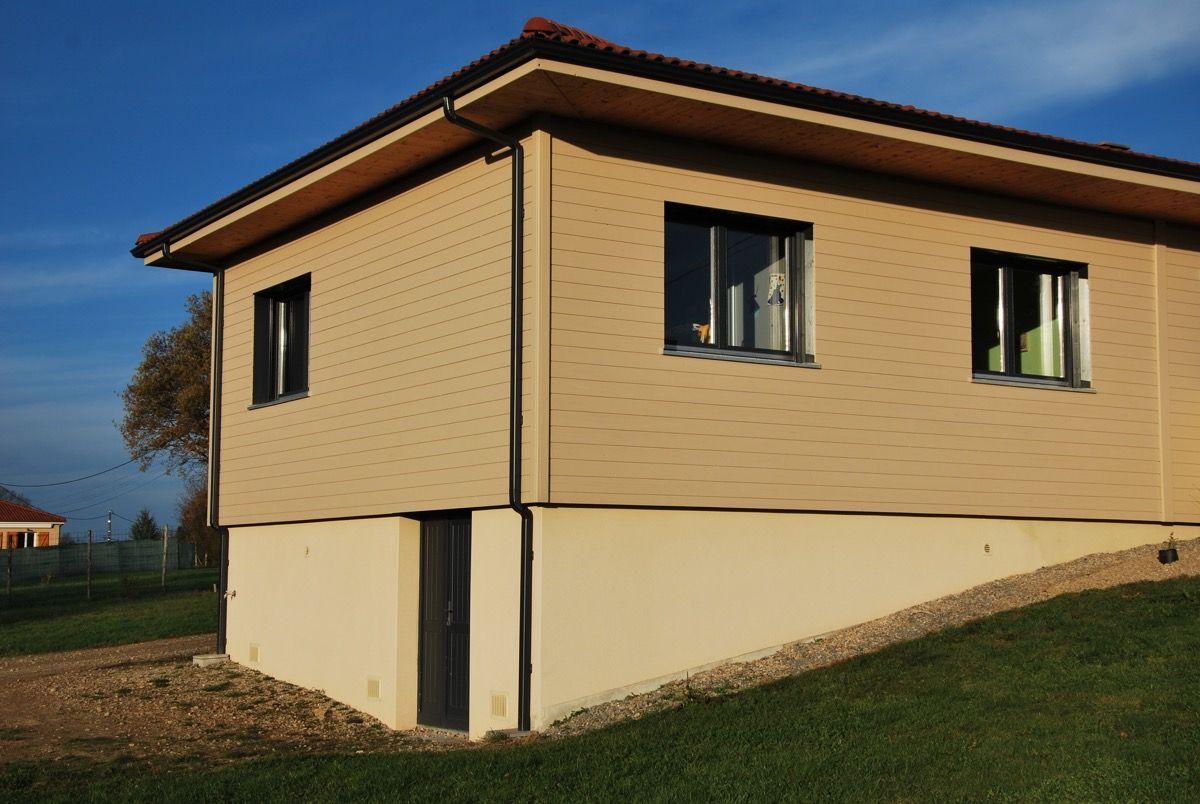 Maison en bois avec terrain
