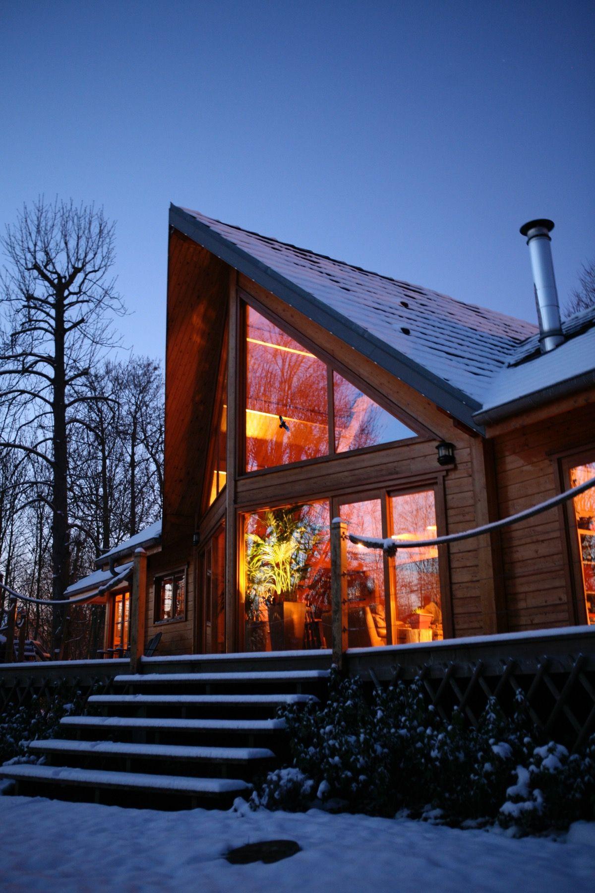 Maison en bois de type chalet