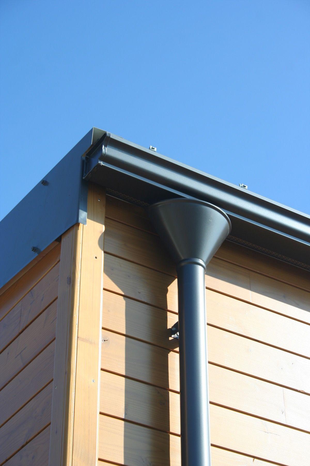 Maison en bois à toit monopente