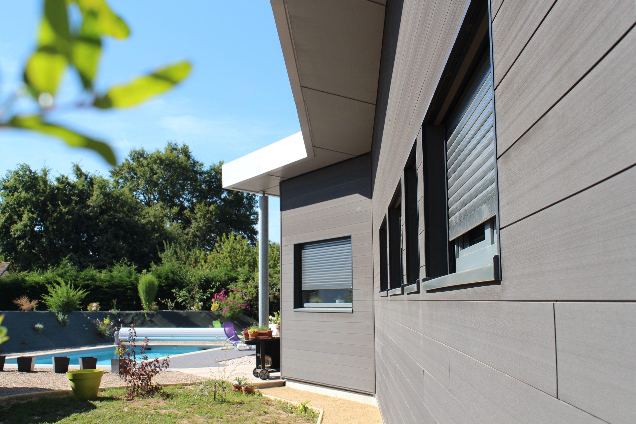 maison bois contemporaine Guillaumie