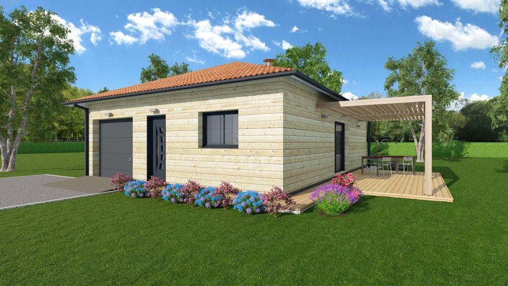 Modèle habitation en bois blanc
