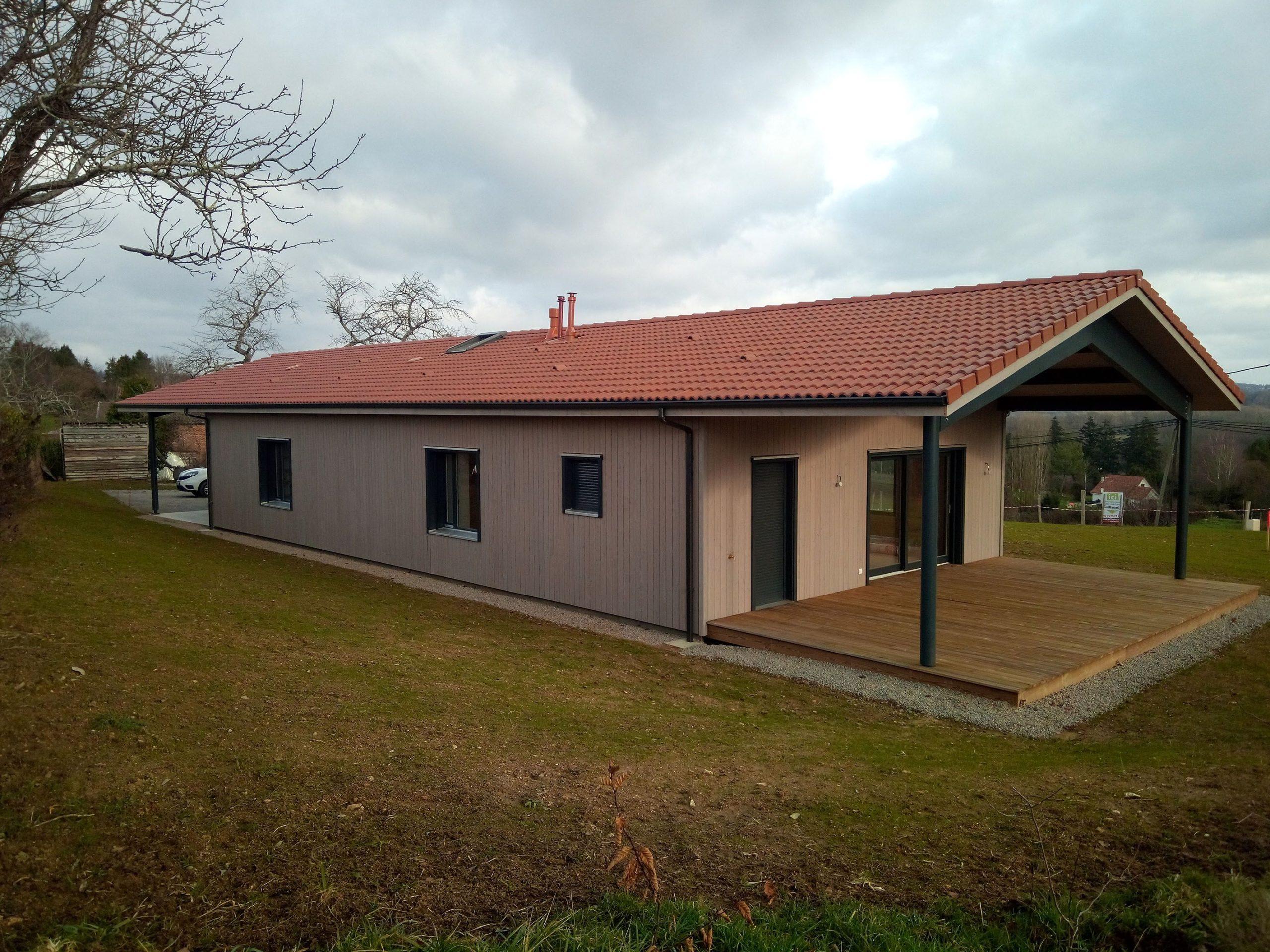 Maison en ossature Bois Guillaumie Limoges